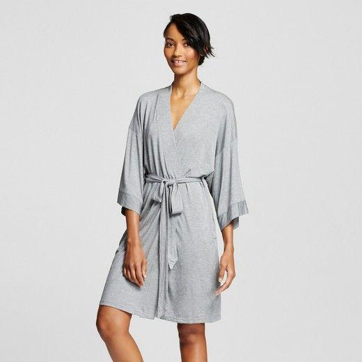 Women's Pajama Total Comfort Kimono Wrap Robe Medium Heather Gray - Gilligan & O'Malley™ : Target