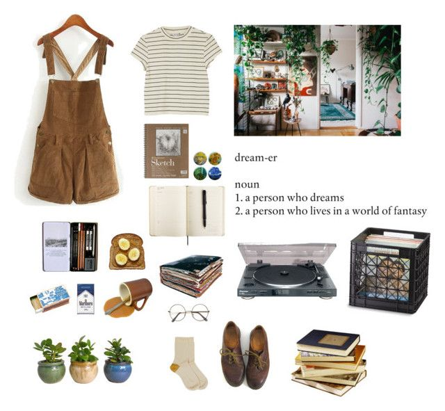 """""""#17"""" by eugecazzari ❤ liked on Polyvore featuring Monki, Shandell's, Dr. Martens and Maria La Rosa"""