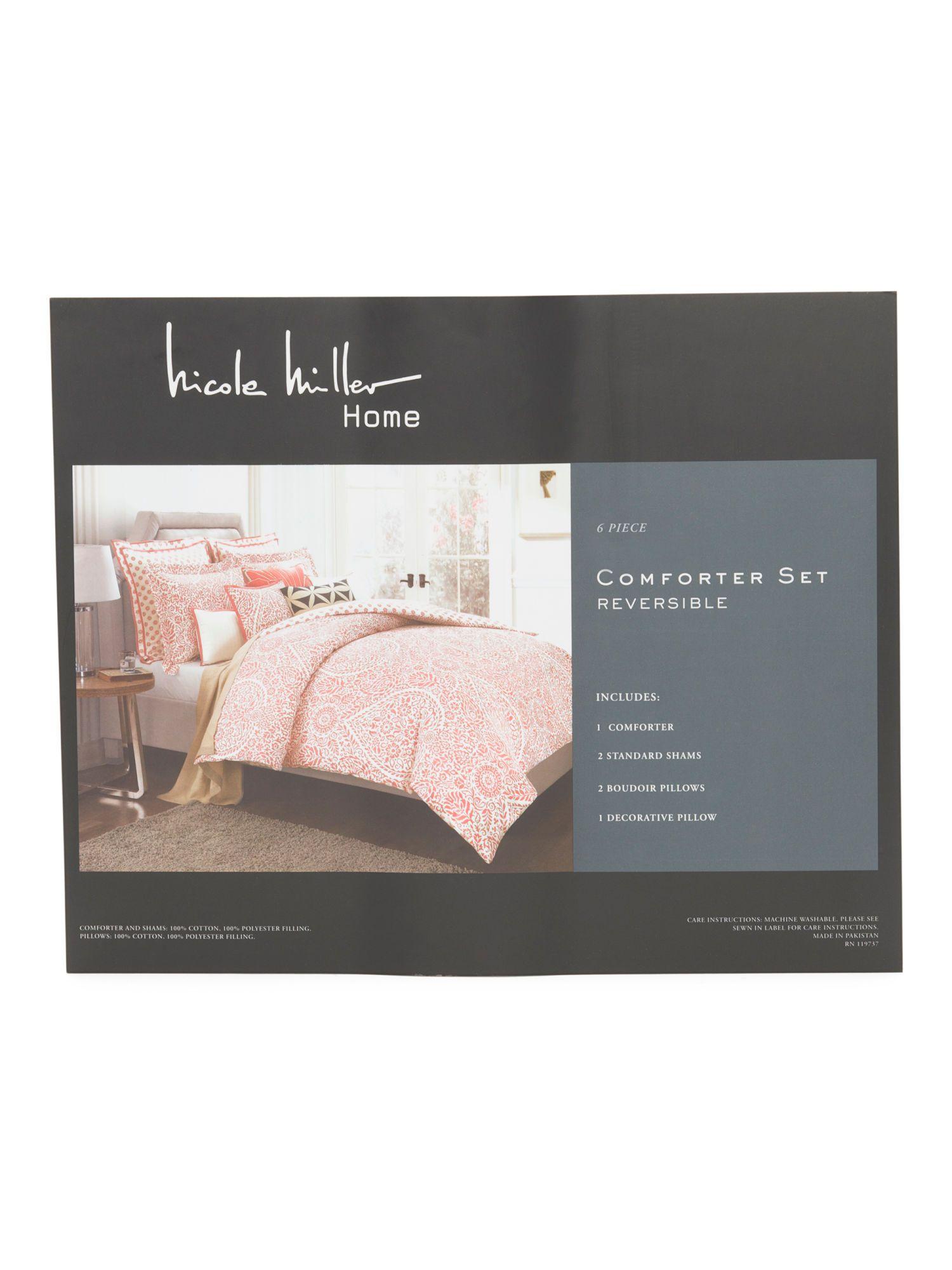 Nicole Miller 6 pc Lilya Comforter Set 99.99 TJMAXX