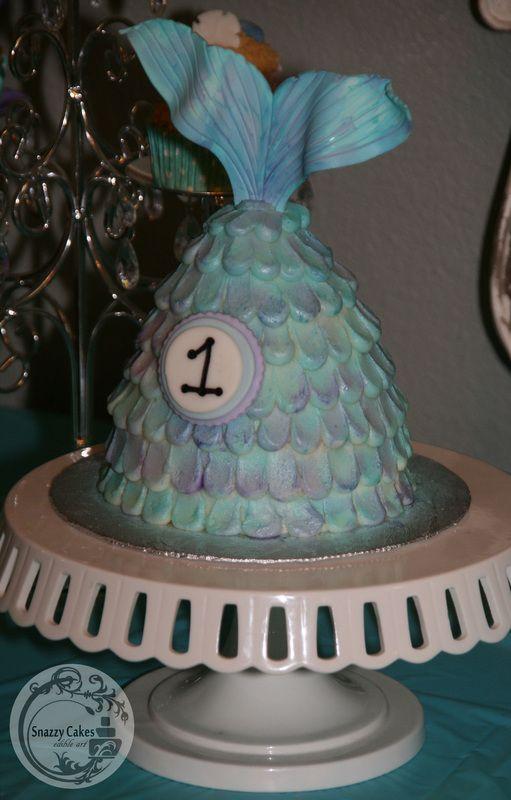 Mermaid Tail Cake Green Blue Purple Cake Inspiration