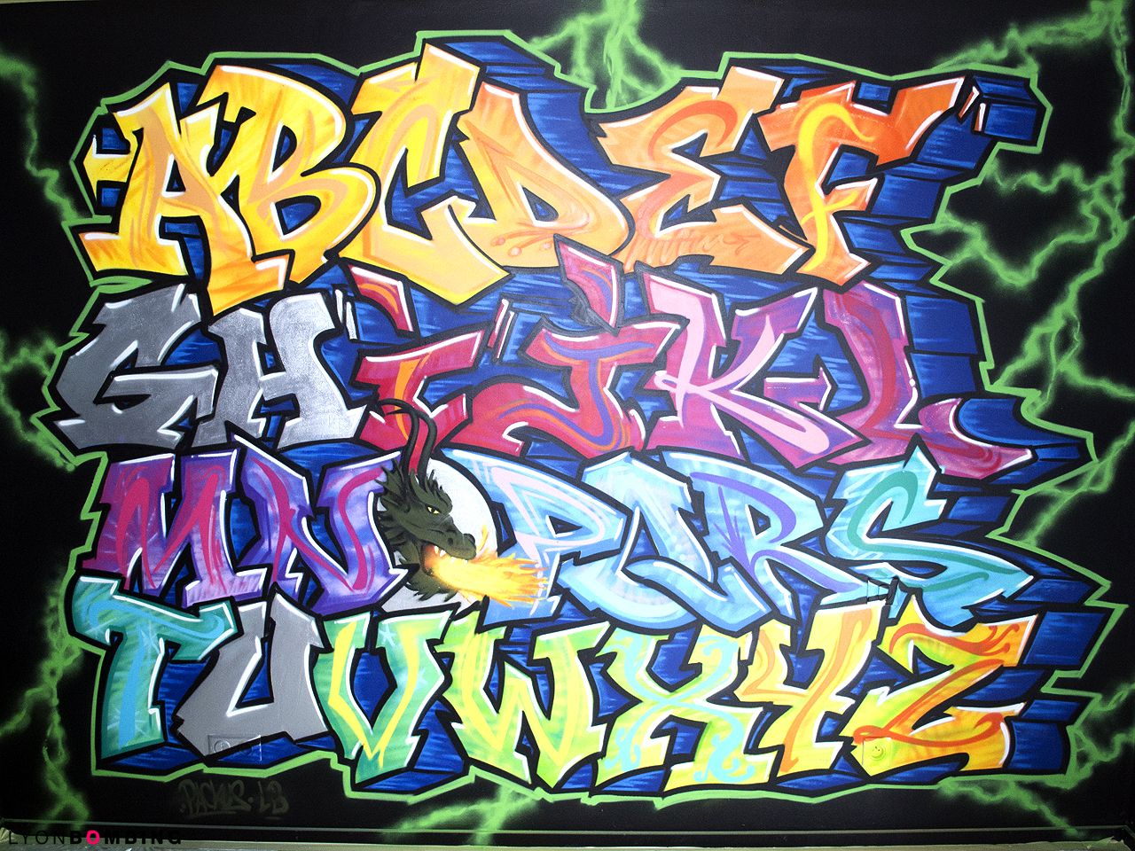 Chambre ab c daire graffiti chambre lyonbombing graffitti graffiti lettre graffiti - Lettre graffiti modele ...