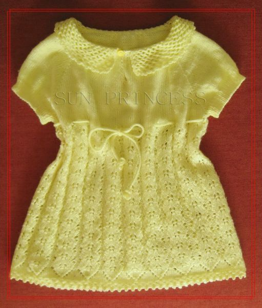 Вязаные детские платья. Почти 30 схем. - Вязание спицами 6