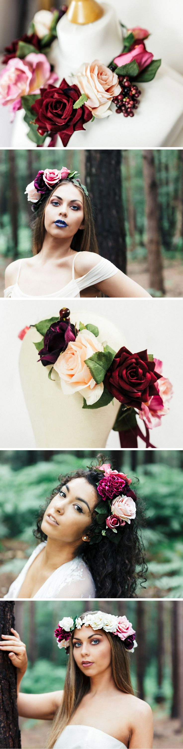 Burgundy rose blush and pink wedding flower crown inspiration warm burgundy rose blush and pink wedding flower crown inspiration warm winter berries and silk faux flowers perfect elopement wedding inspiration izmirmasajfo