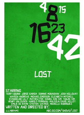 4 8 15 16 23 42 Lost Tv Show Lost Poster Lost Art