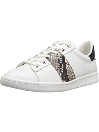 Sam Edelman Women's Marquette Fashion Sneaker, White/Putty Snake/Black, 6.5  M