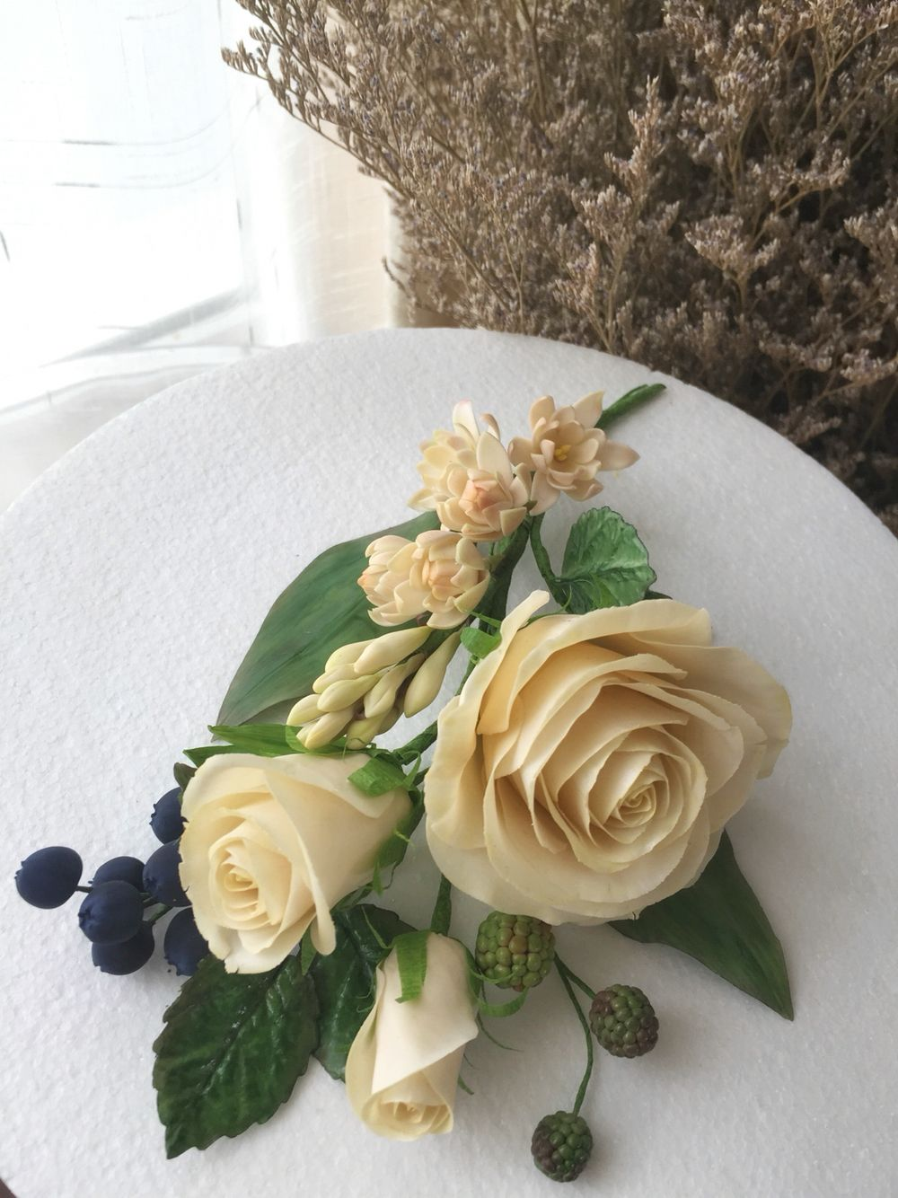 Sugar Flower Bouquet Roses And Tuberose Sugar Flowers