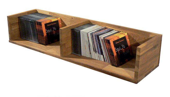 Etagère range CD murale