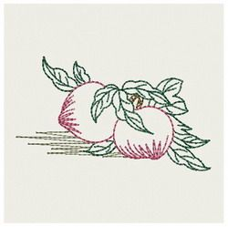 {Food- Vintage Peach- 000005707a-PES K.H.}  Embroidery Designs Home