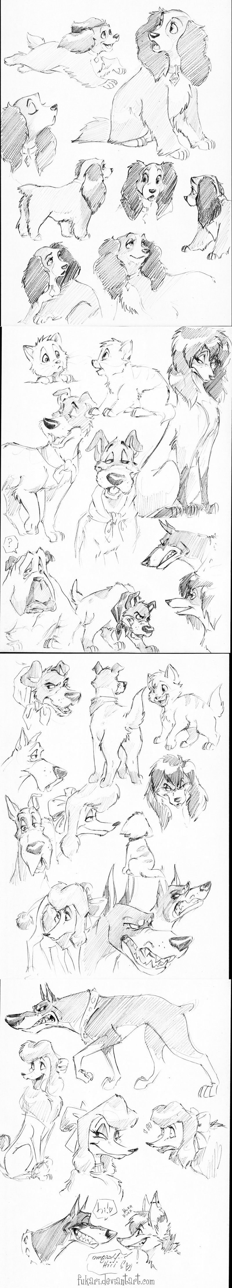 Disney dogs ✤ || CHARACTER DESIGN REFERENCES | キャラクターデザイン • Find more at…