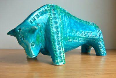 Ceramic bull Jema, Holland