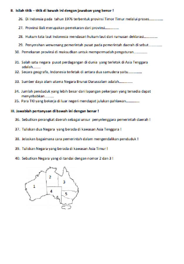 Kumpulan Soal Olimpiade Matematika Sd Beserta Kunci Jawabannya