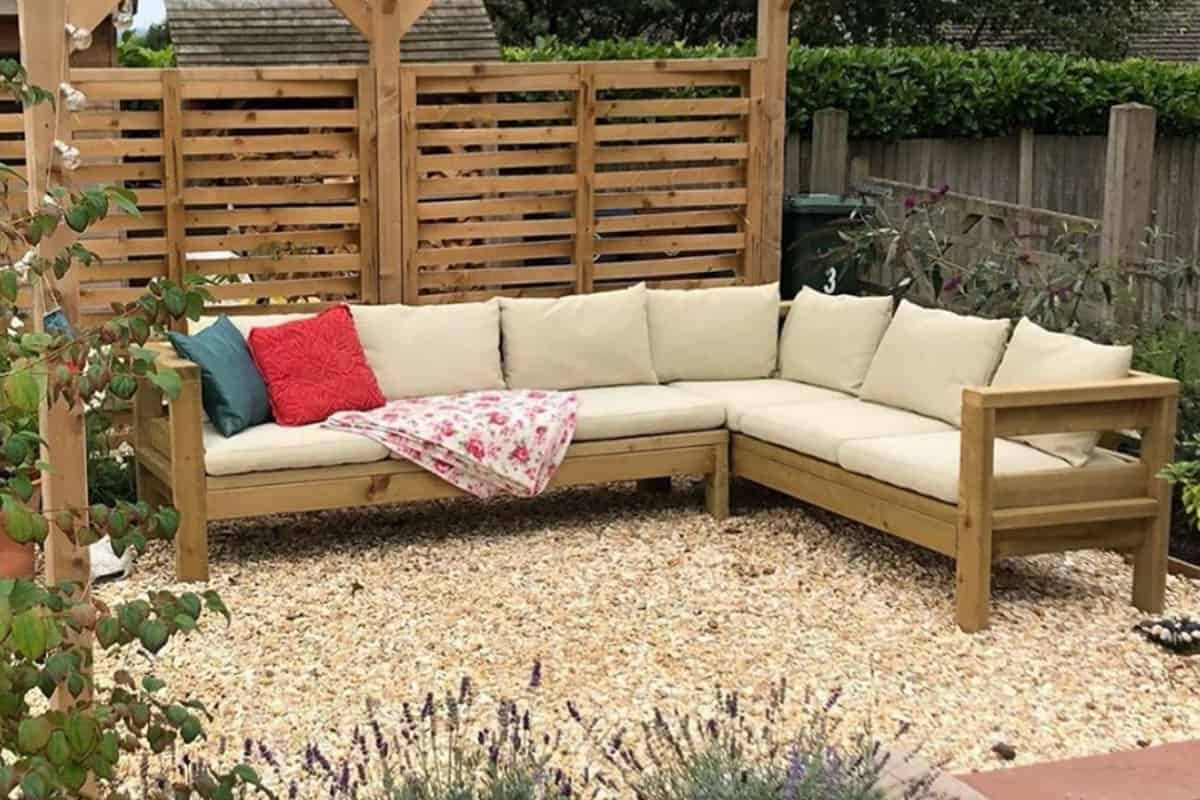 Ana whites diy outdoor sectional in 2020 diy outdoor