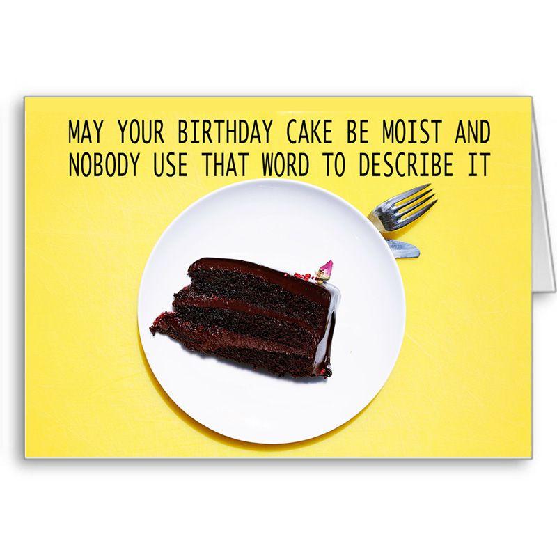 Astonishing Birthday Wishes Greeting Card May Your Birthday Cake Be Moist Personalised Birthday Cards Beptaeletsinfo