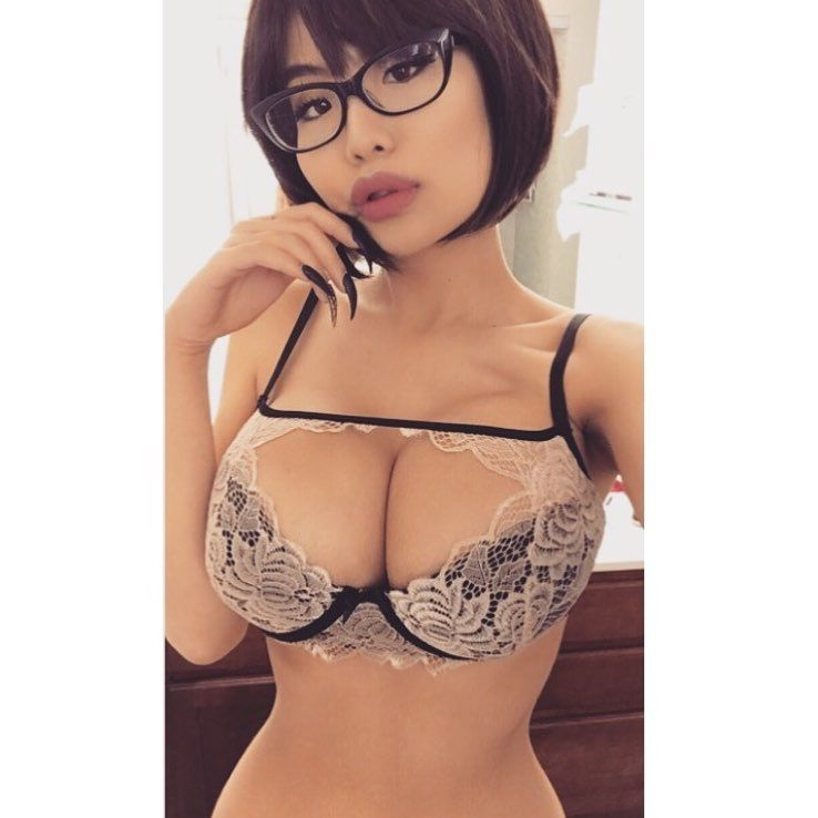 Busty asian glasses