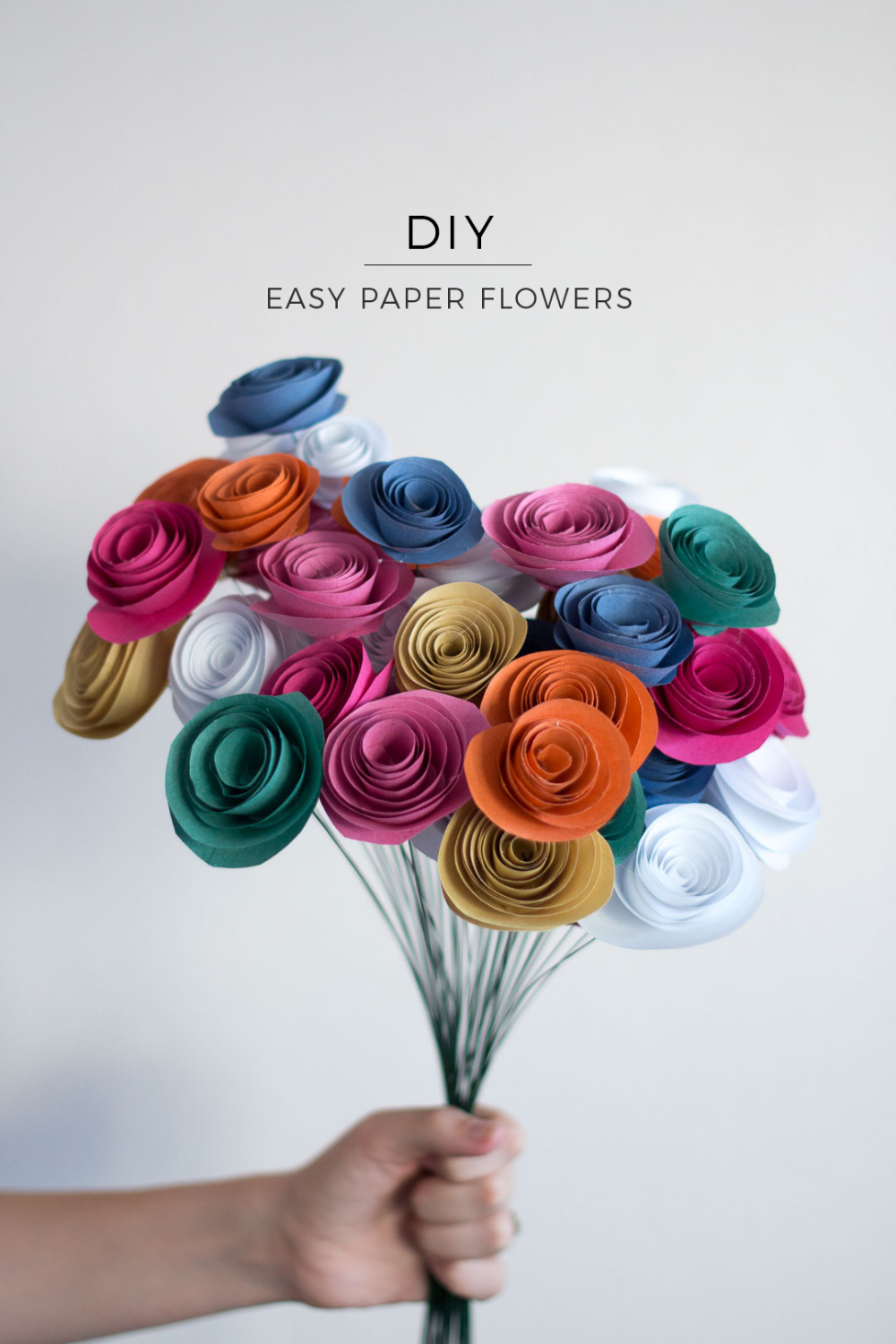 Easy Paper Flowers // DIY - Pure Sweet Joy