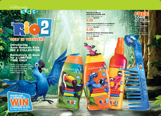 For A Limited Time Only Rio 2 Avon Kids Naturals Collection!