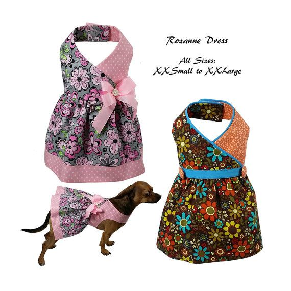 Roxanne Dog Dress Dog Dress Sewing Pattern от FourSeasonsPattern ...