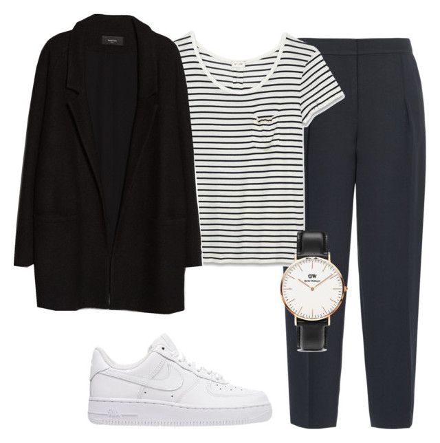 """Untitled #362"" by sarah-ihab ❤ liked on Polyvore featuring Reiss, Yves Saint Laurent, NIKE, MANGO and Daniel Wellington"