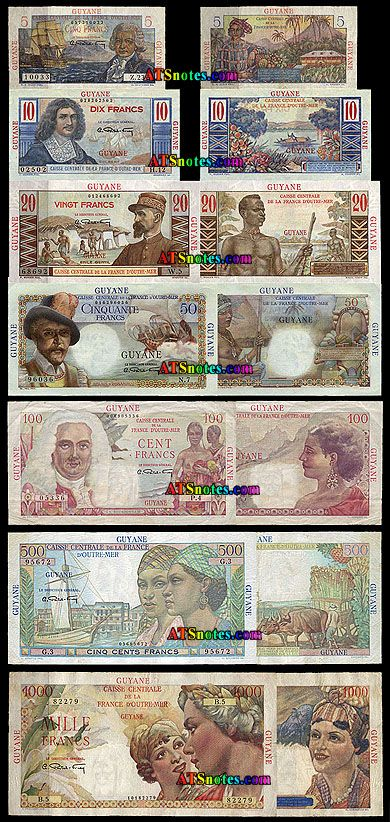 French Guyana Currency Guiana Paper Money Catalog And History