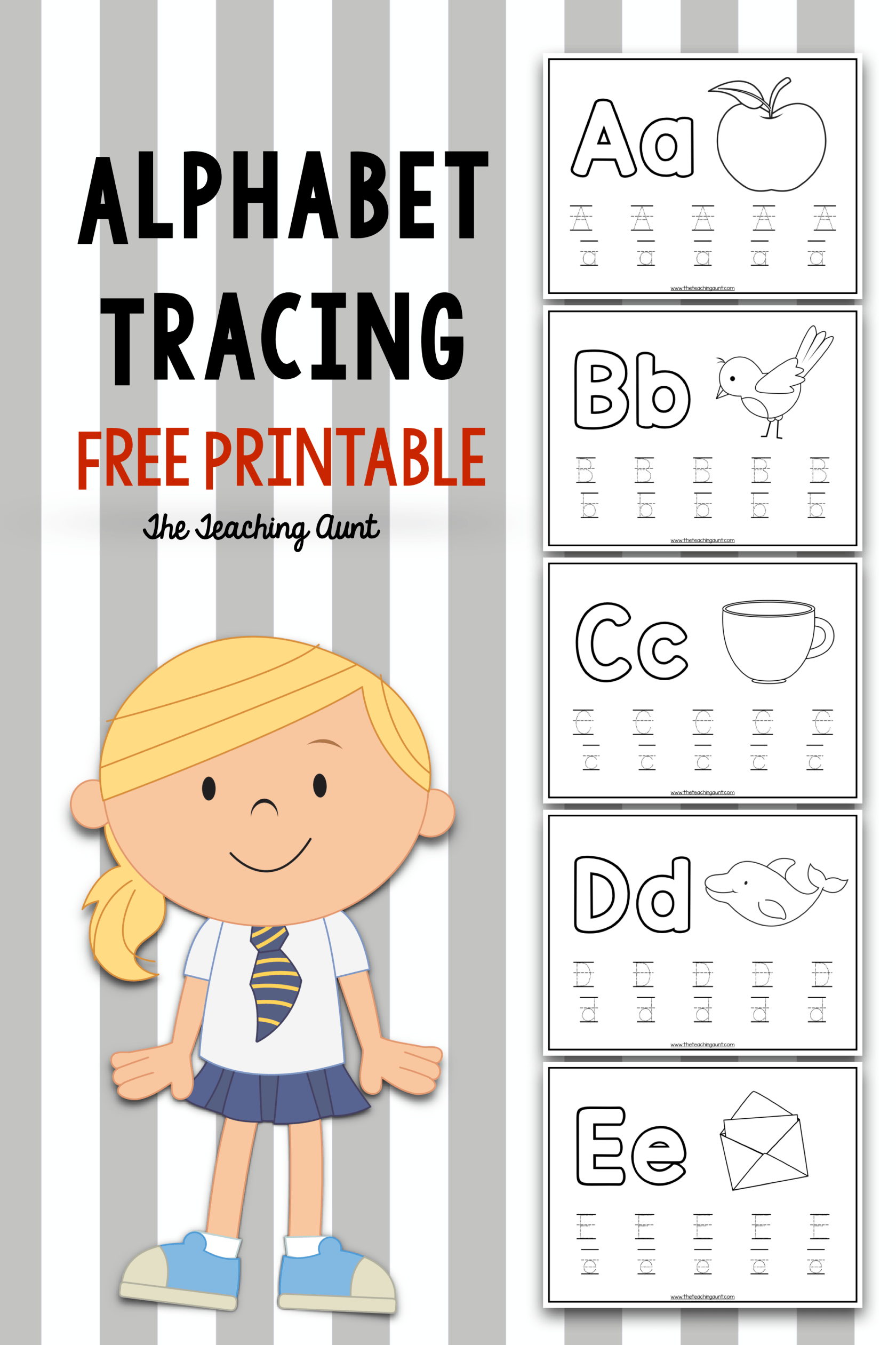 Alphabet Tracing Free Printable The Teaching Aunt Alphabet Activities Preschool Alphabet Preschool Alphabet Tracing [ 2521 x 1680 Pixel ]