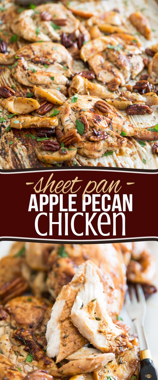 Sheet Pan Apple Pecan Chicken