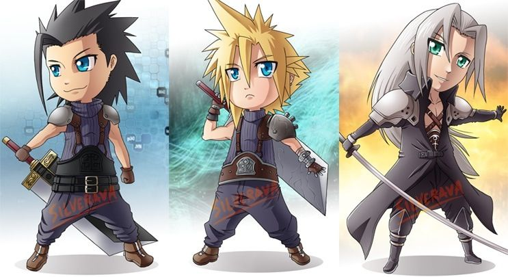 Zack Fair Cloud Strife And Sephiroth Final Fantasy Vii