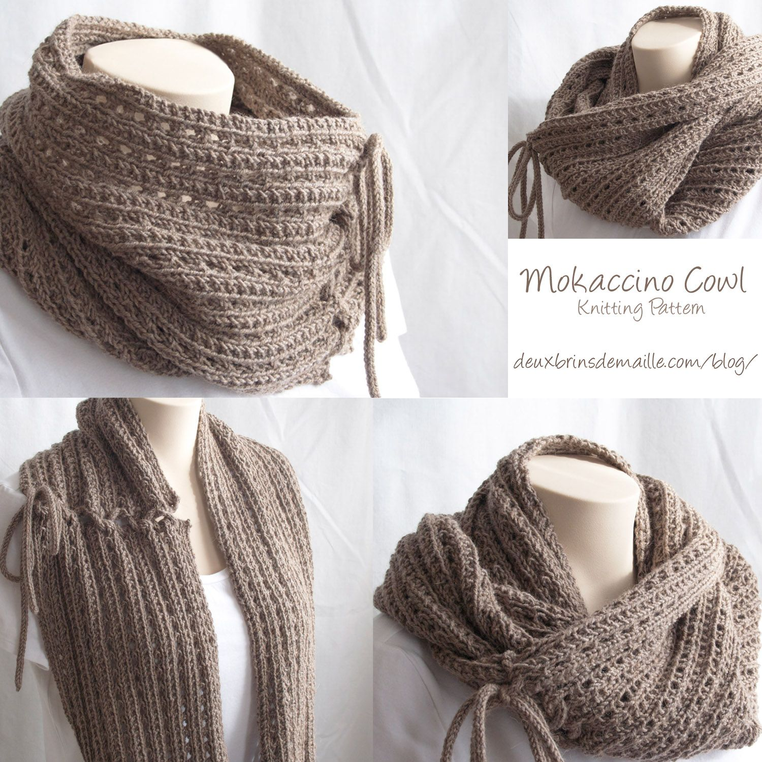 Knitting Pattern : The Mokaccino Cowl | Knit N Purl Cowls ...