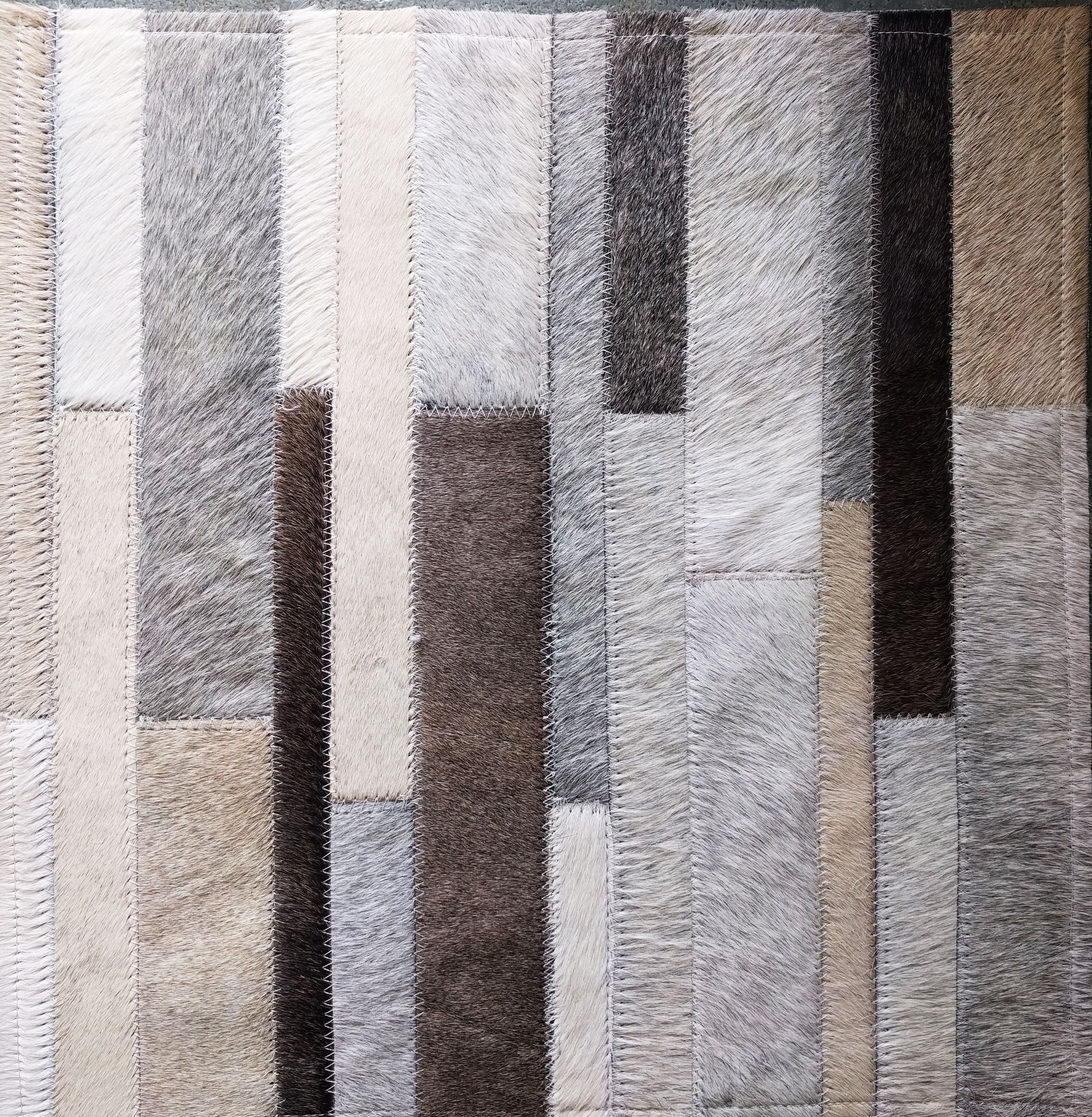 Stripes Of Love Taupe Beige Cream And Gray Patchwork Cowhide Rug In Stripes Patchwork Cowhide Rug Patchwork Cowhide Cow Hide Rug
