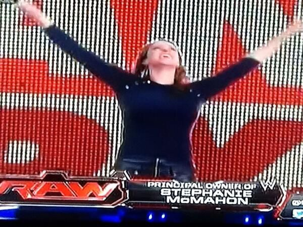 Stephanie Enters To Daniel Bryan's Music on #RAW
