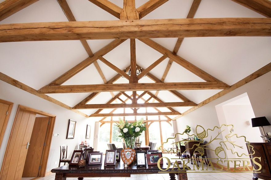 King Post Trusses And Open Vaulted Ceilings