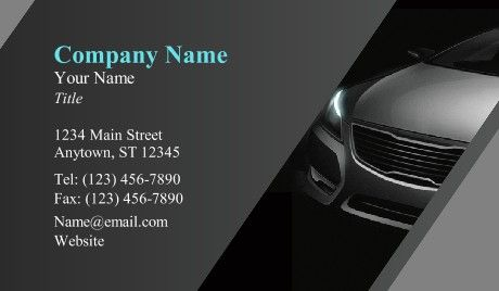 Car Dealer Business Cards Cars Car Industry Business Card
