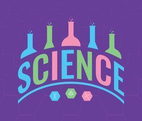 science logo vector science and science symbols science word dished in purple    science logo vector science and science symbols science word dished in purple  science Wi...