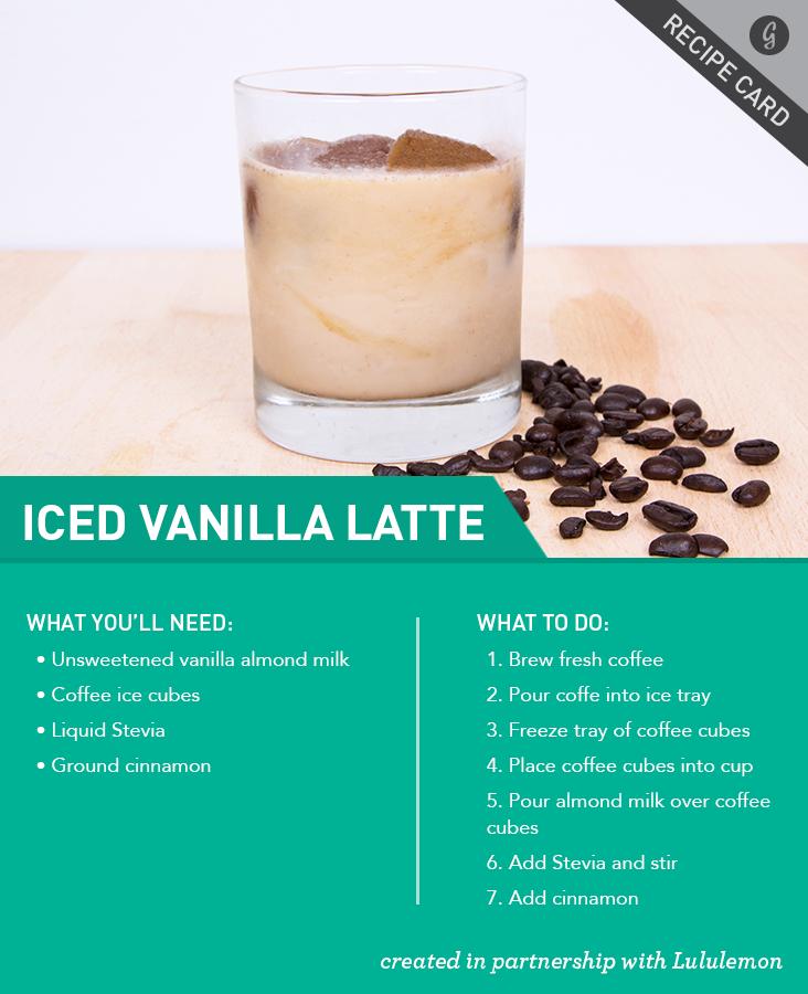 Healthier Iced Vanilla Latte Recipe Food recipes
