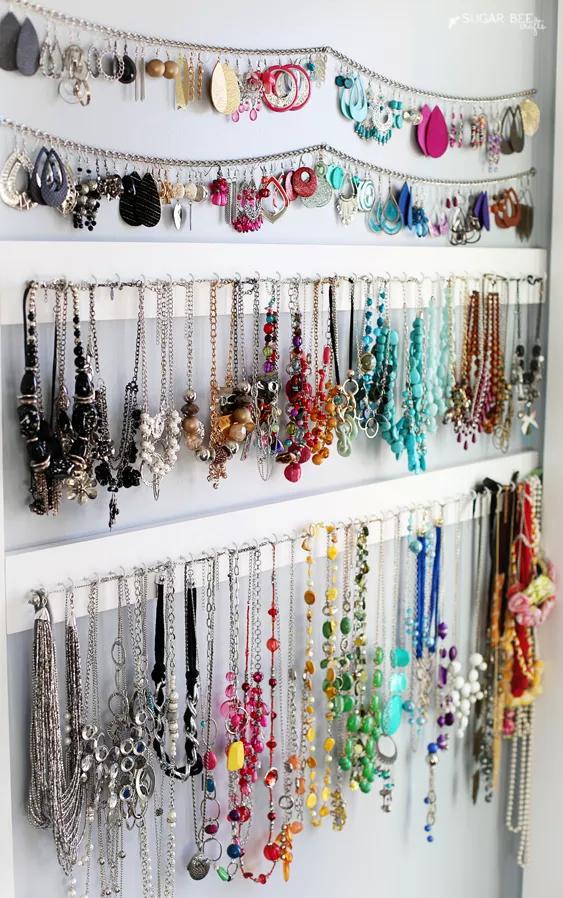 Diy Jewelry Storage Board Jewelry Storage Diy Jewelry Organizer
