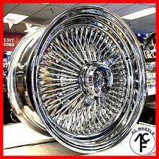 14x7 Standard 100 Spoke Wire Wheels Straight Lace Chrome Rims 4pcs Wire Wheel Chrome Rims Rims For Cars