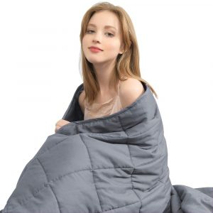 Ourea Cooling Summer 20 Lbs Weighted Blanket With Glass Beads