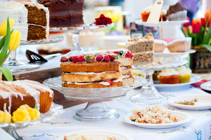 Delicious cake stand at Brighton Foodies Festival.