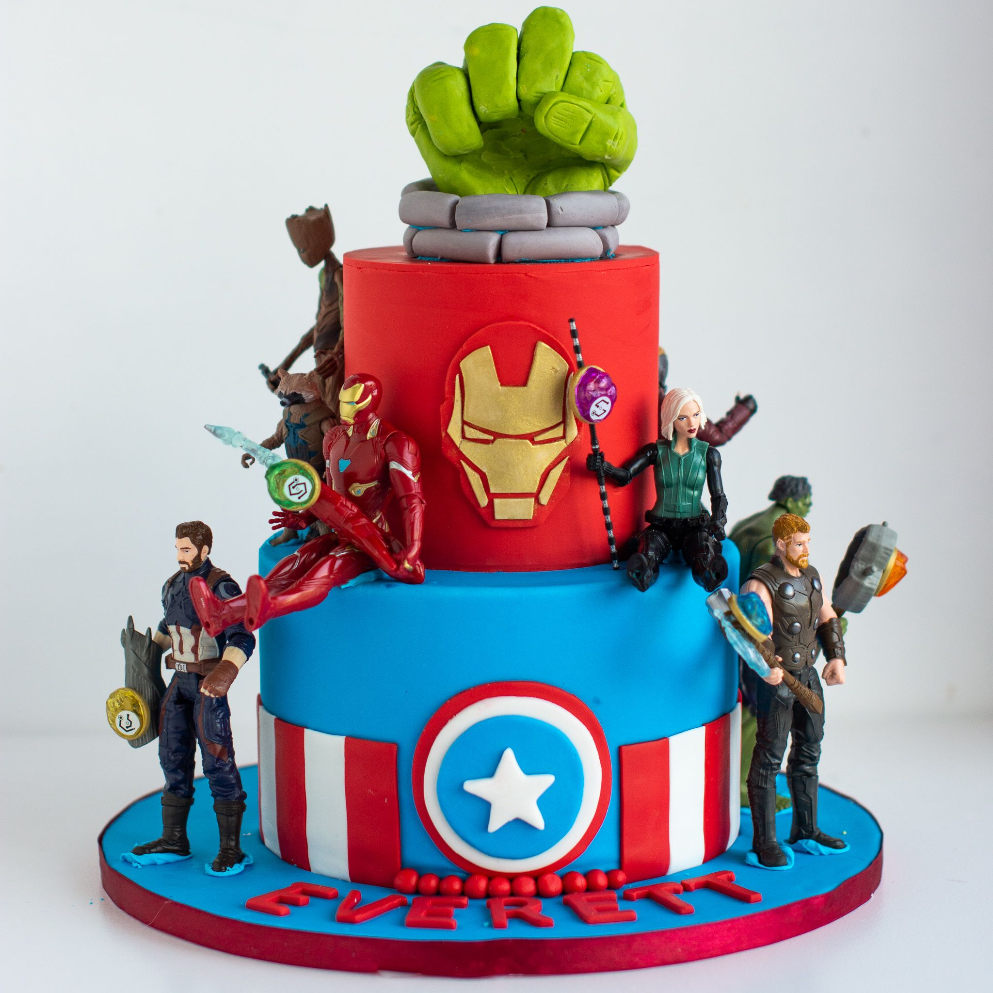 Excellent Avengers Two Tier With Images Avengers Birthday Cakes Funny Birthday Cards Online Alyptdamsfinfo