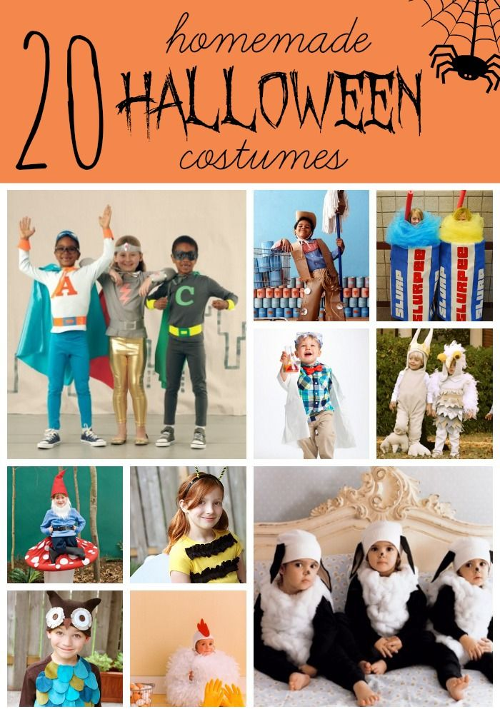 20 DIY Homemade Halloween Costumes for Kids from TheHowToCrew - homemade halloween decorations kids