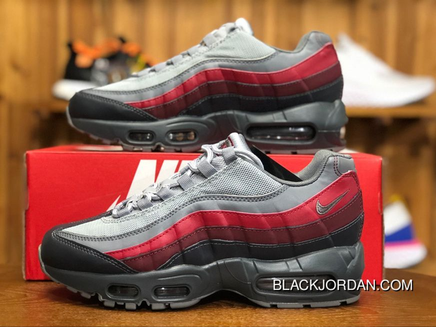 a9c25e61e9 Nike Air Max 95 Essential 749766-025 Mens Running Shoes Cool Grey Red Top  Deals