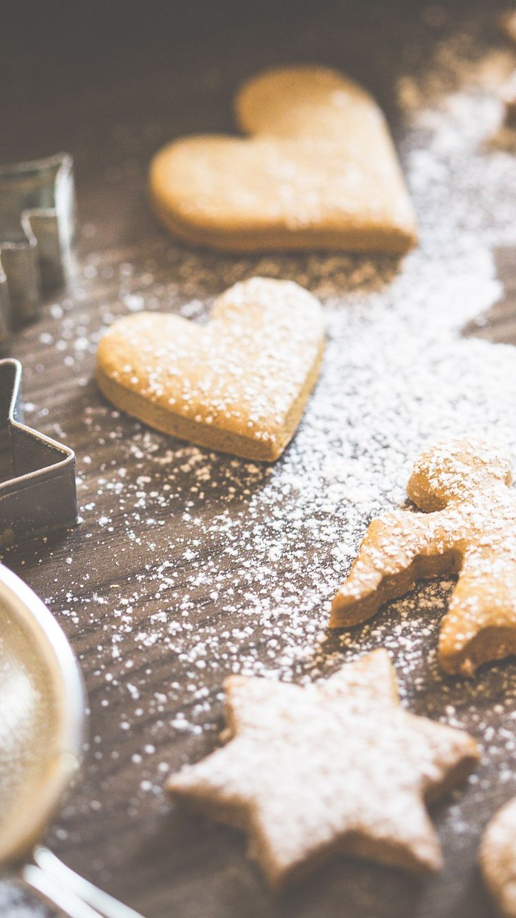 Christmas Home Made Cookie Shapes Iphone 6 Wallpaper How To Make Cookies Iphone 6 Wallpaper Winter Cookie