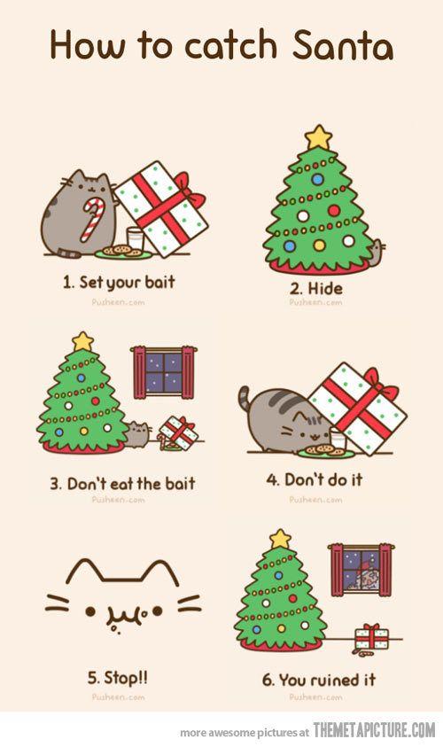 Pusheen the cat christmas | Pusheen The Cat | Pinterest | Pusheen ...