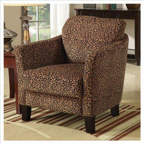 Coaster Club Chair In Cheetah Print | [Polos] Furniture