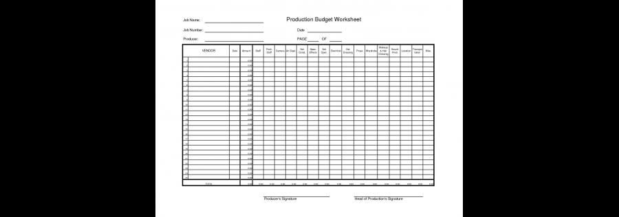 Film Production Budget Film Funding Budgeting Film