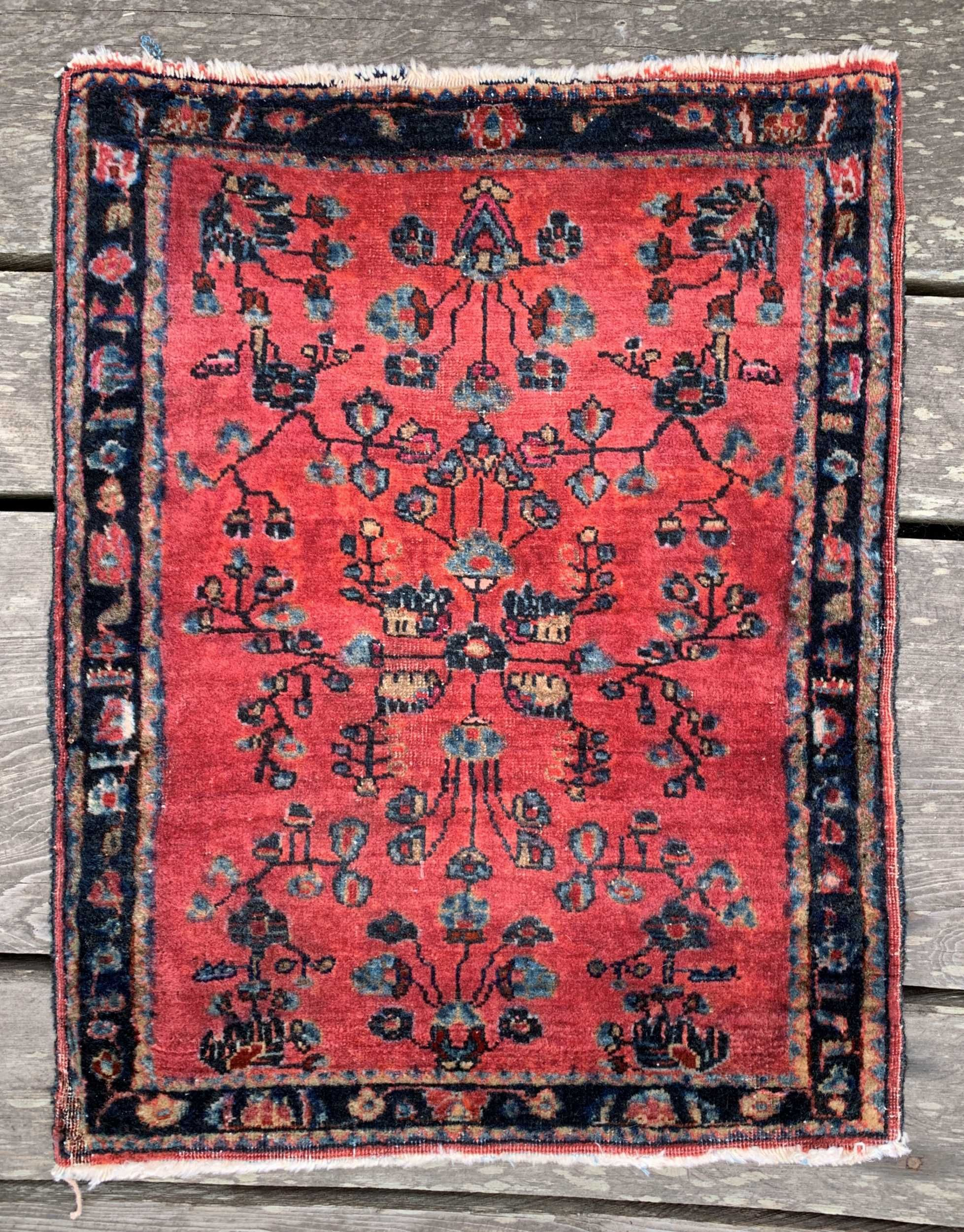 Vintage Persian Sarouk Rug 1 9 X 2 3 Rugs Persian Vintage