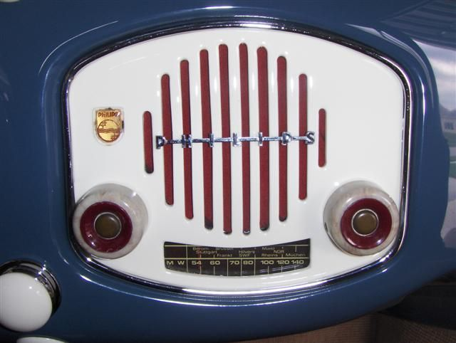Crotch cooler 1952 | Phillips radio is really awesome...one of the neatest ones I have seen