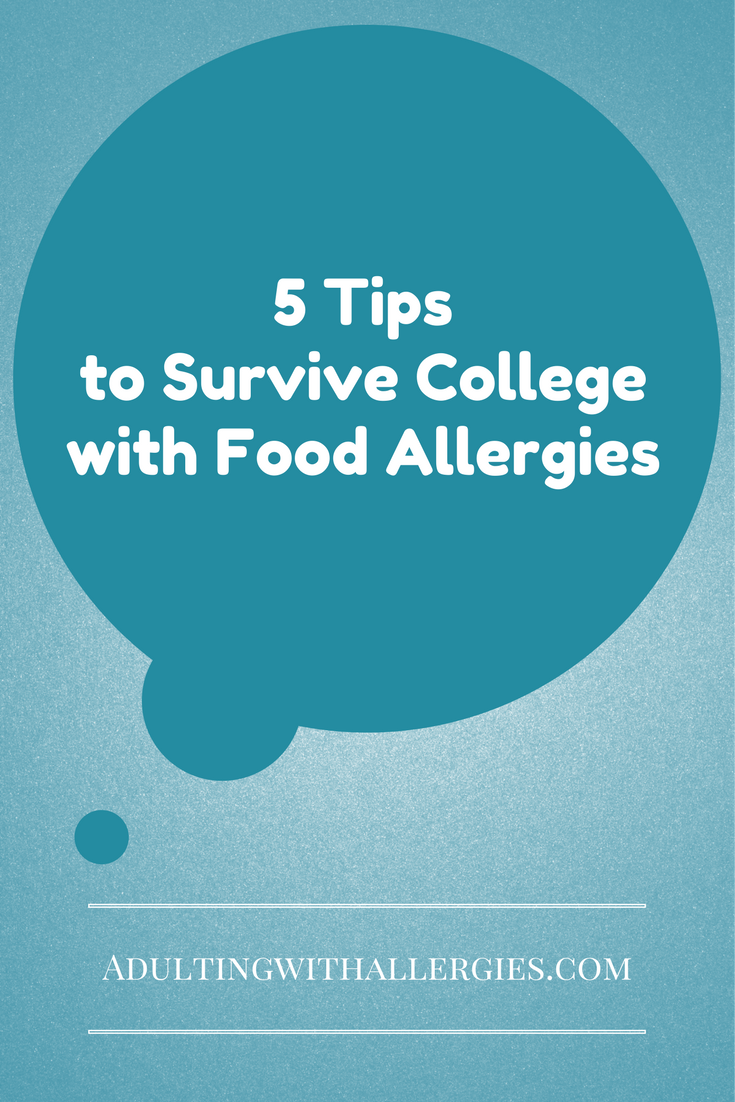 """I will be the first to admit that I was not very careful with my food allergies during college. I was lucky to only have one or two allergic reactions throughout the entire 4 years. Each time Benadryl took care of my reaction and I never had to go to the hospital. However, it...Continue Reading """"5 Tips to Survive College with Food Allergies"""" →"""