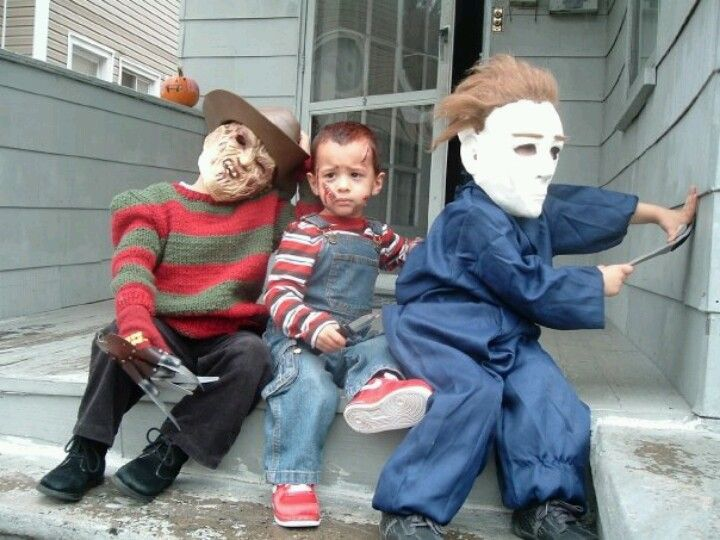 My Nephews As Freddy Krueger, Chucky And Michael Meyers