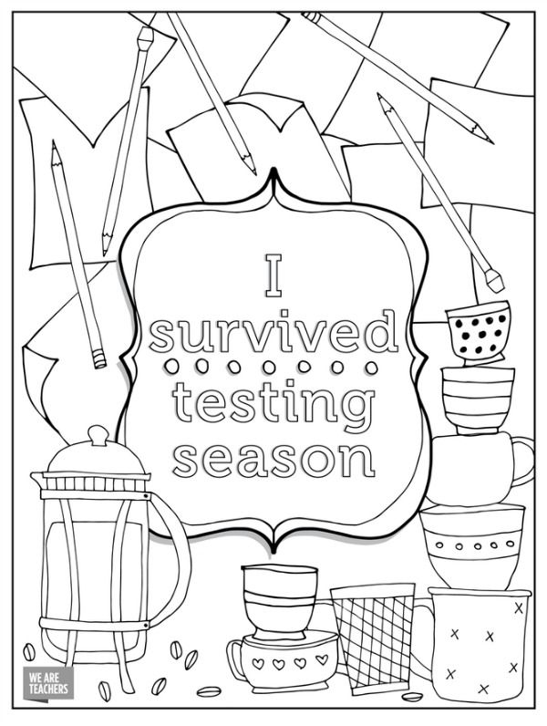 8 Free Adult Coloring Pages for Stressed Out Teachers | Adult ...