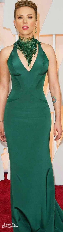 Oscars 2015 Scarlett Johansson in Versace ♕♚εїз | BLAIR SPARKLES